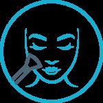 ikona przedstawiająca makijaż