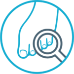 ikona przedstawiająca badania stóp